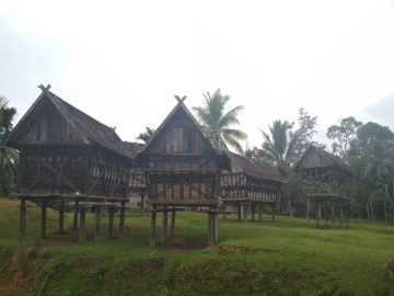 trekking at dayak village